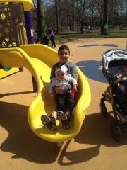 AJ playing with his princess, SpencerRose.