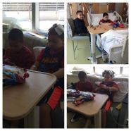 he was so excited to see his best friend. We had to pull major strings for this visit to even take place!