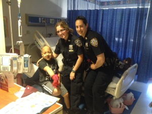 A big Thanks to officer Michellle Forthman and her partner for coming back for an extra visit with Aj!