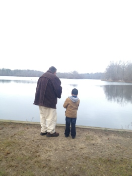 Fishing with grandpa.