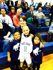 My boys and I at the basketball game!